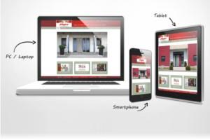 Responsive Unternehmens-Homepage