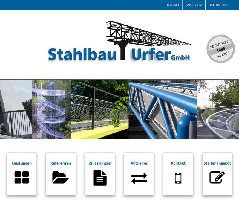 FS|MEDIEN - Internetagentur - Stahlbau Urfer - Internetauftritt - Geländer