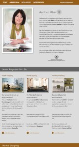 Homepage als Onepager