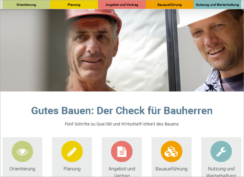 Homepage für Bauunternehmen, FS|MEDIEN - Internetagentur - Hompage - Der Bauherren Check - Bauausführung