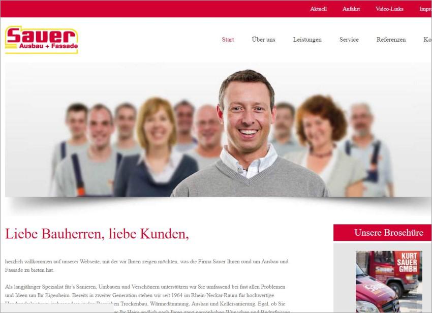 FS|MEDIEN - Internetagentur - Hompage - Kurt Sauer GmbH - Fassade