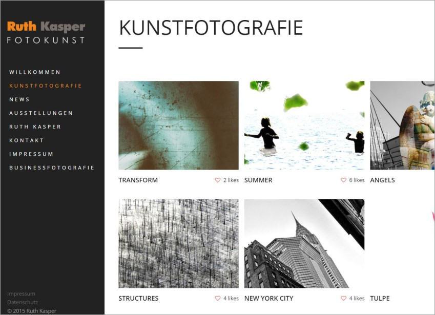 FS|MEDIEN - Internetagentur - Hompage - Ruth Kasper - Kunstfotografie