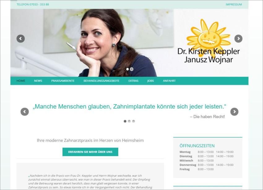 FS|MEDIEN - Internetagentur - Hompage - Zahnärzte Sonnenstrasse - Heimsheim - Zahnartztpraxis