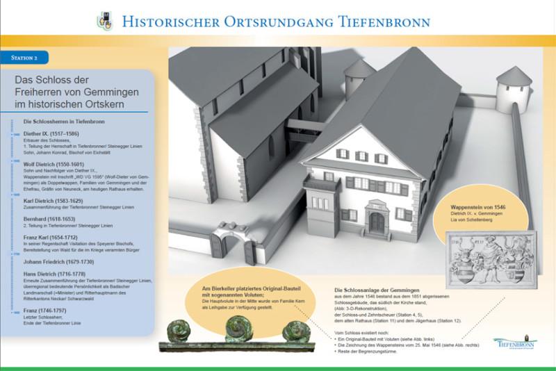 FS|MEDIEN - Internetagentur - Historischer Ortsrundgang Tiefenbronn - Flyer