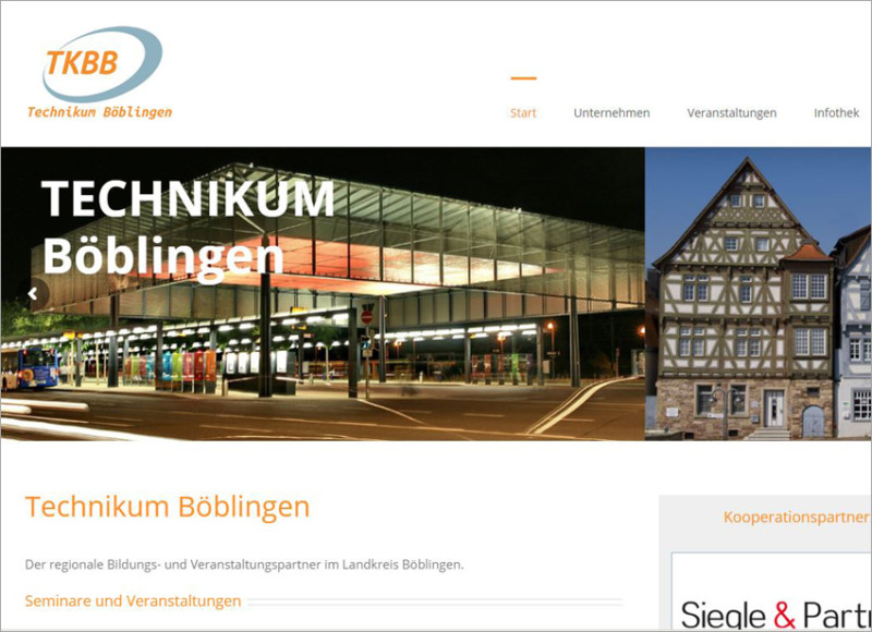 FS|MEDIEN - Internetagentur - Hompage - Technikum Böblingen - Bildungsspartner