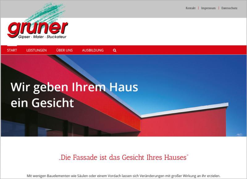 Stuckateur Homepage, FS|MEDIEN - Internetagentur - Hompage - Stuckateur Gruner - Unterreichenbach - Bad Liebenzell - Calw