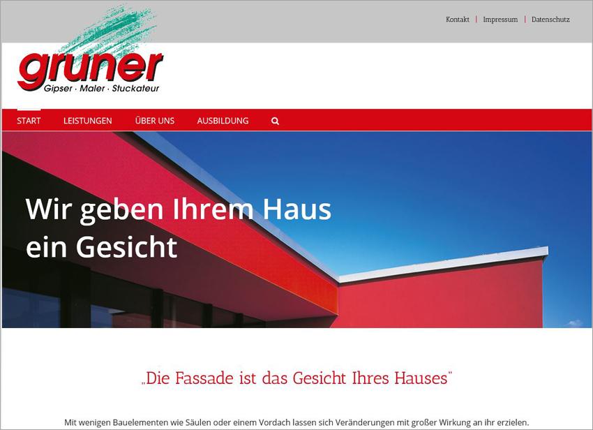 FS|MEDIEN - Internetagentur - Hompage - Fassaden-Gruner - Vordach