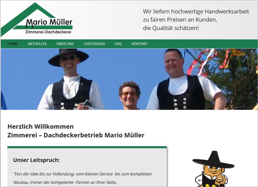 FS|MEDIEN - Internetagentur - Hompage - Zimmerei - Dachdeckerbetrieb Mario Müller