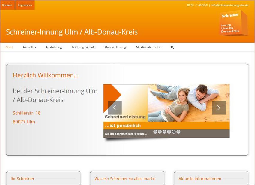 FS|MEDIEN - Internetagentur - Schreiner-Innung Ulm / Alb-Donau-Kreis - responsive Homepage