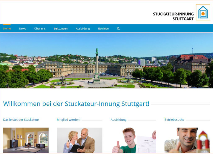 Stuckateur Homepage, FS|MEDIEN - Internetagentur - Innungs Website -